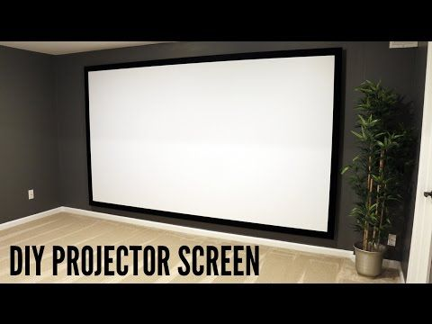 Build Your Own Projector Screen Projector Screen Diy Homemade Projector Home Cinema Room