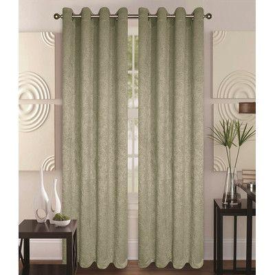 Glory Home Design Milano Blackout Curtain Panels Color Sage