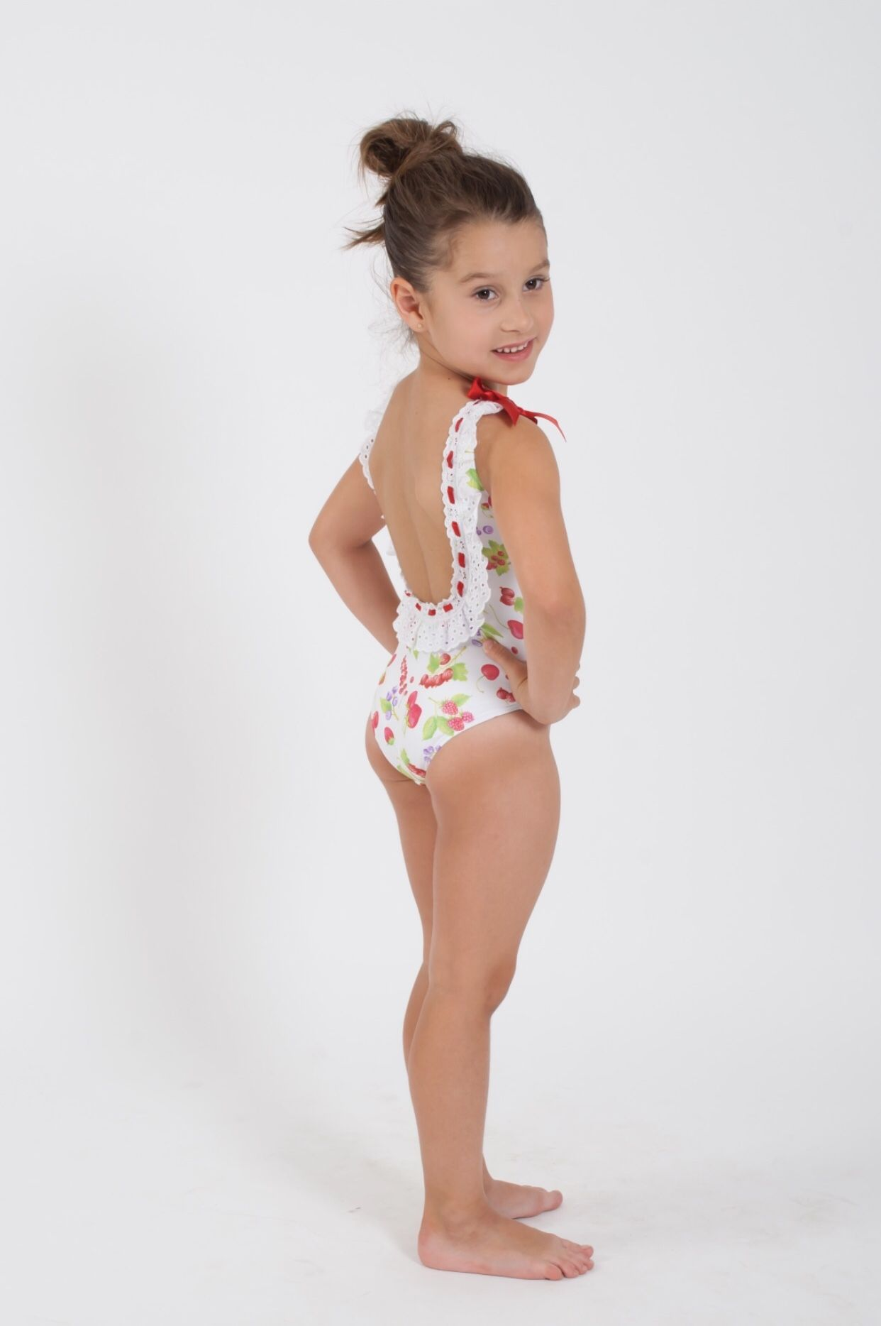 Banador Con Cerezas De La Marca De Moda Infantil Kauli Talla Ropa