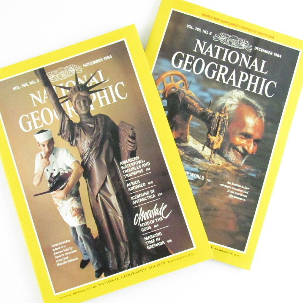 National Geographic Magazine November December 1984 Lot of