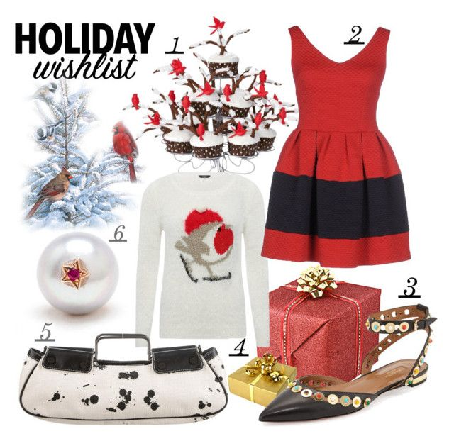 """""""winter wishes"""" by kc-spangler ❤ liked on Polyvore featuring Carolina Bucci, M&Co, AINEA, Burberry, Aquazzura, WishList, red, holiday, contestentry and 2015wishlist"""