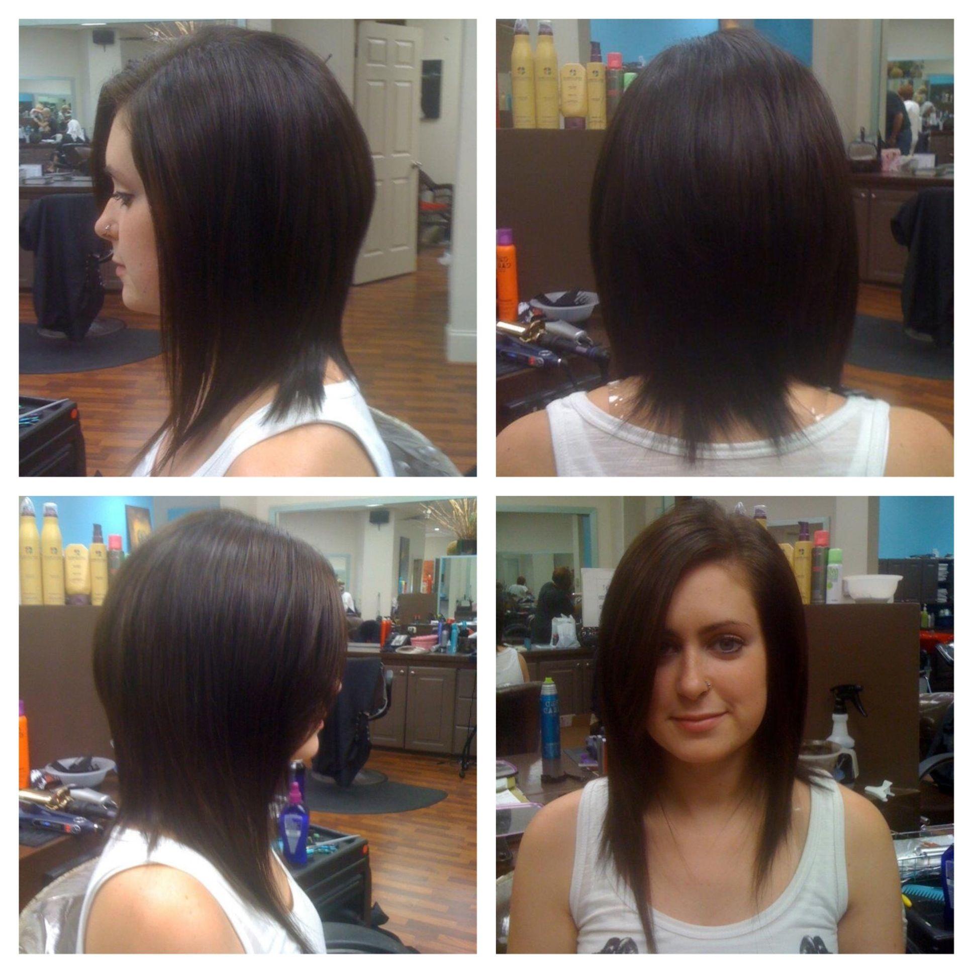 Salon Style Hair: Textured Angled Asymmetrical Bob Haircut Lex Moore @ Style
