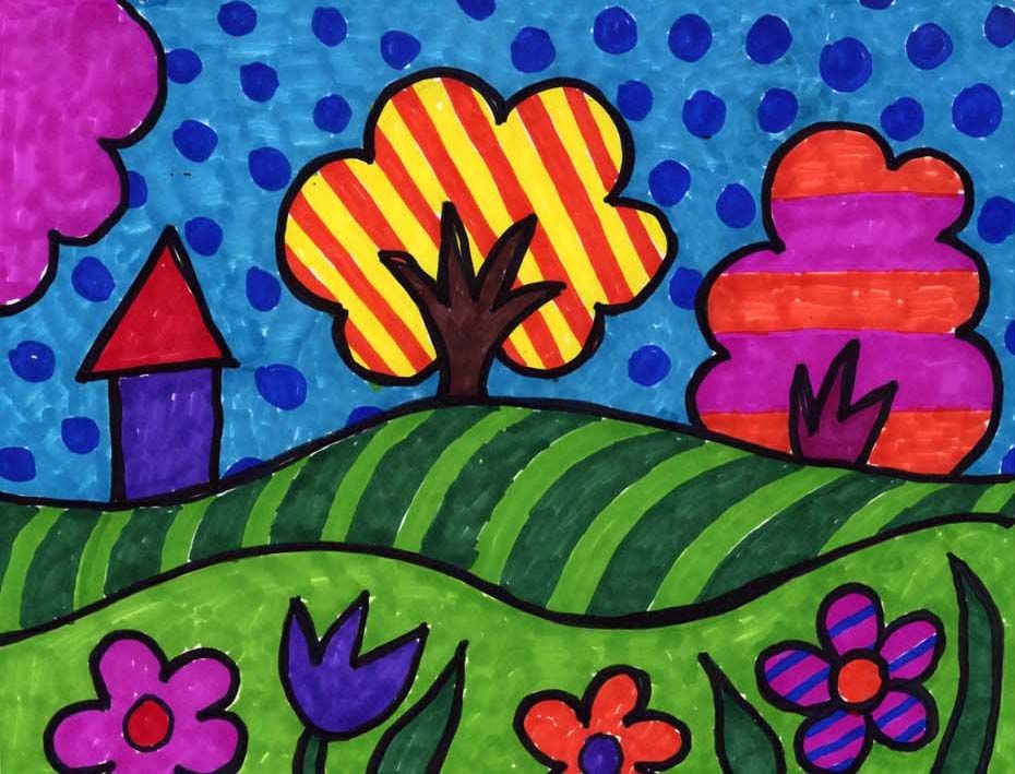 Pop art landscape art projects for kids new with pdf Fun painting ideas for toddlers