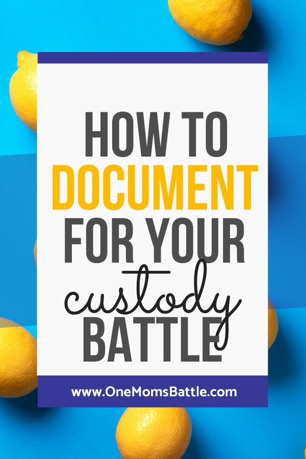 Documentation Workshop— One Mom's Battle