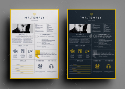 Free Artistic Resume Templates Download 35 Free Creative Resume  Cv Templates  Xdesigns