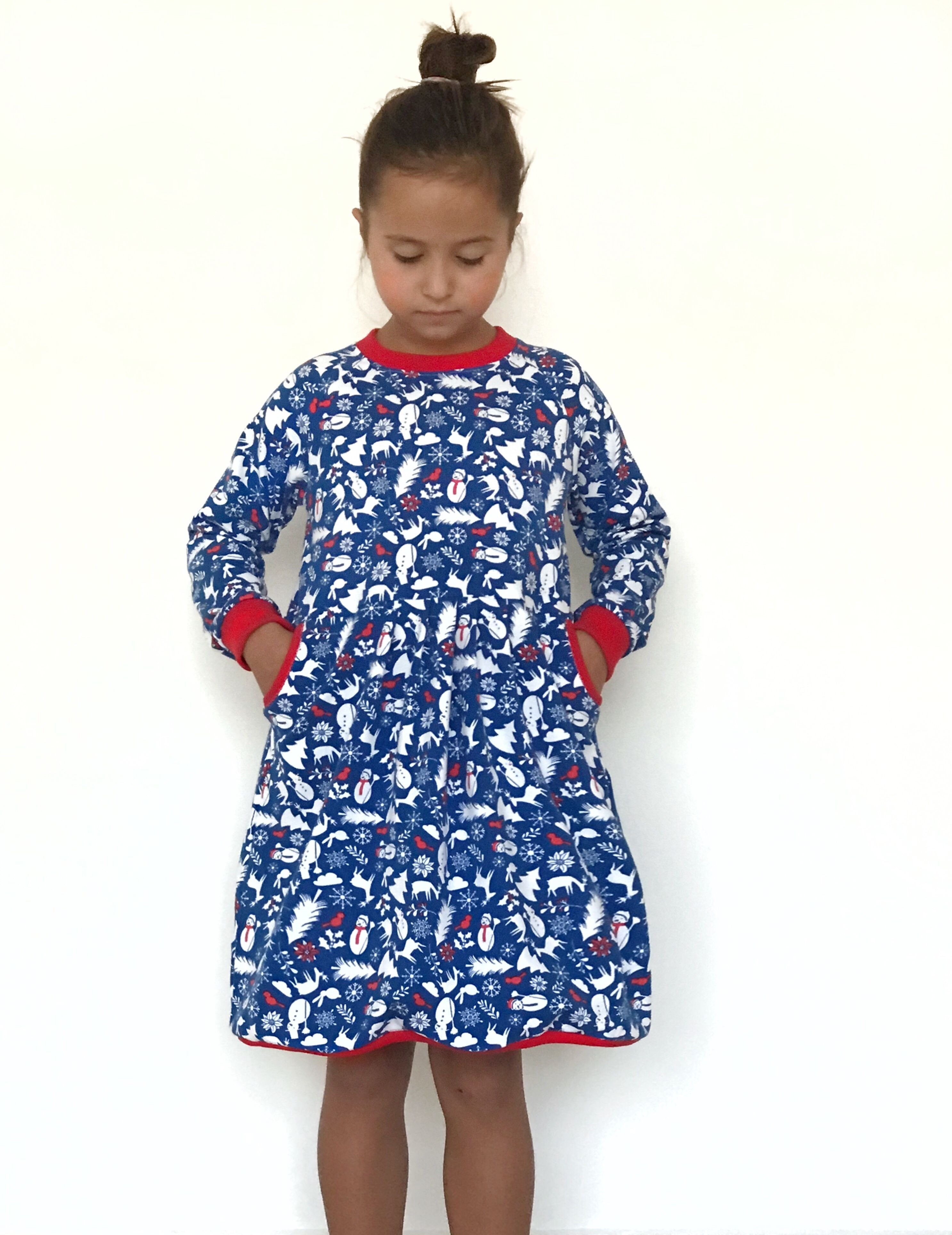 Winter Dress With Pocket Sewing Pattern Long Sleeve Dress Sewing Pattern Girls Long Sleeve Dress Pattern Girls Dresses Sewing [ 3855 x 2973 Pixel ]