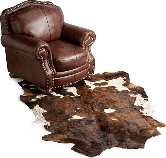 Cowhide Leather Area Rug - For The Longhorn Office!
