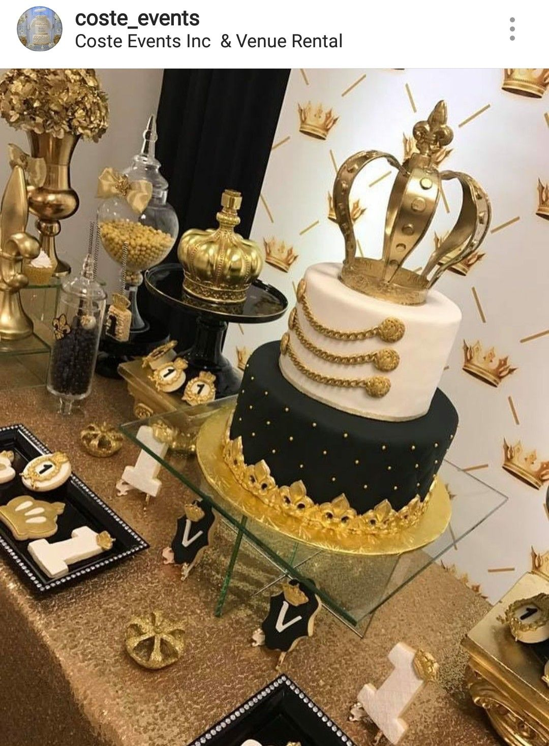Pin On Gold Black White Party Table Decor