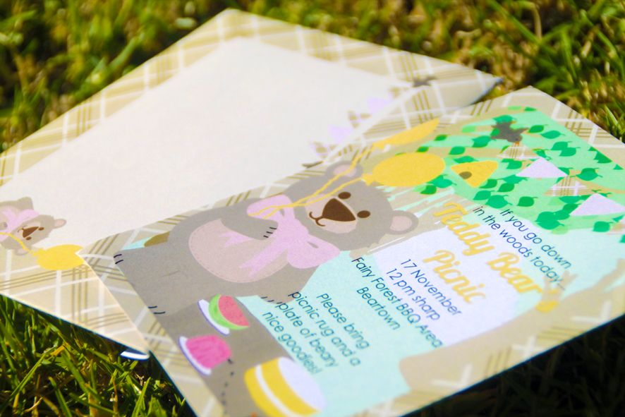 Teddy Bear Picnic party invitations | THEME: Teddy bear picnic / tea ...