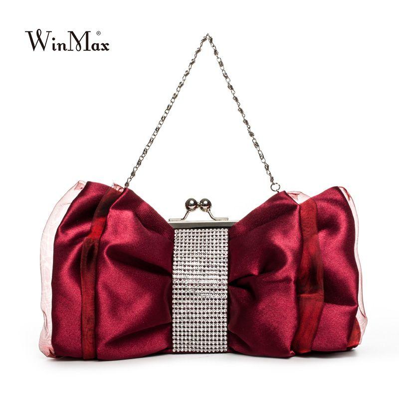 30 05 Nice Luxury Fashion Bow Shape Rhinestone Women Evening