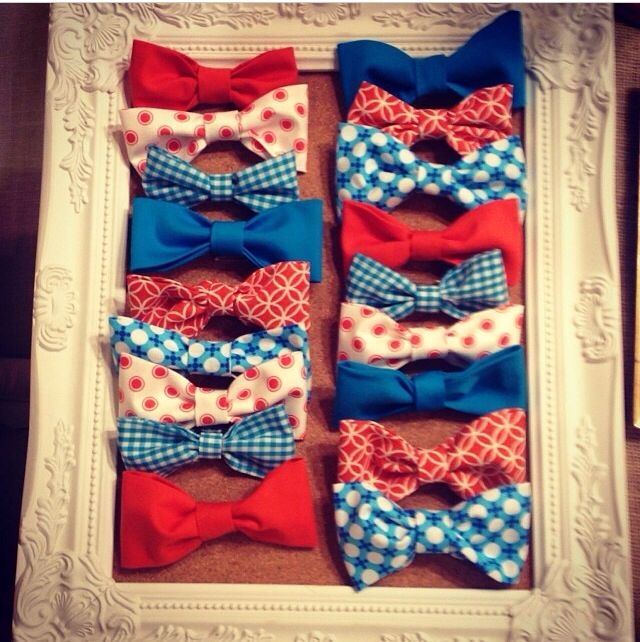 """Bow ties for """"little man"""" baby shower"""