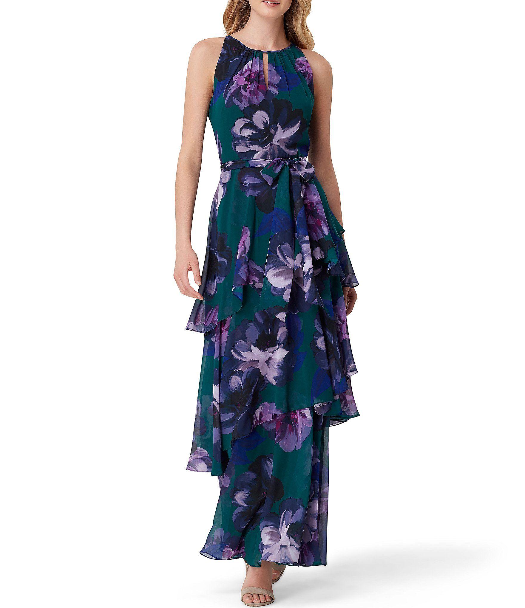 Color Studies Chiffon Gown Fashion Floral Maxi Dress [ 2040 x 1760 Pixel ]
