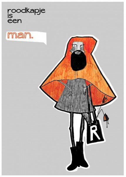 Roodkapje is een man