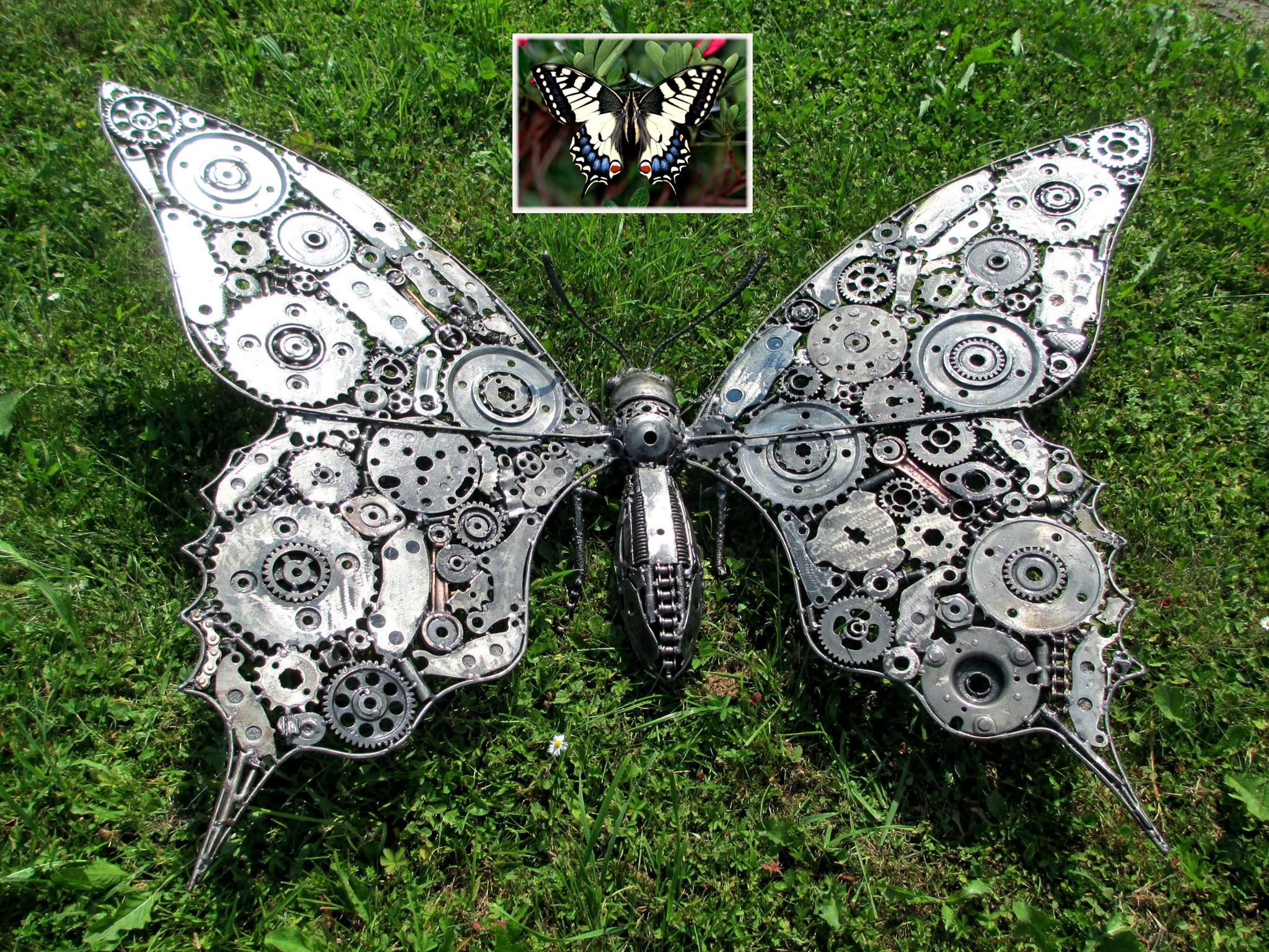 High Quality Metal Butterfly Made From Recycled Metal