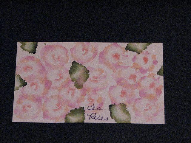 AI Tea Roses 011 by ronijj, via Flickr.           (Alcohol ink)