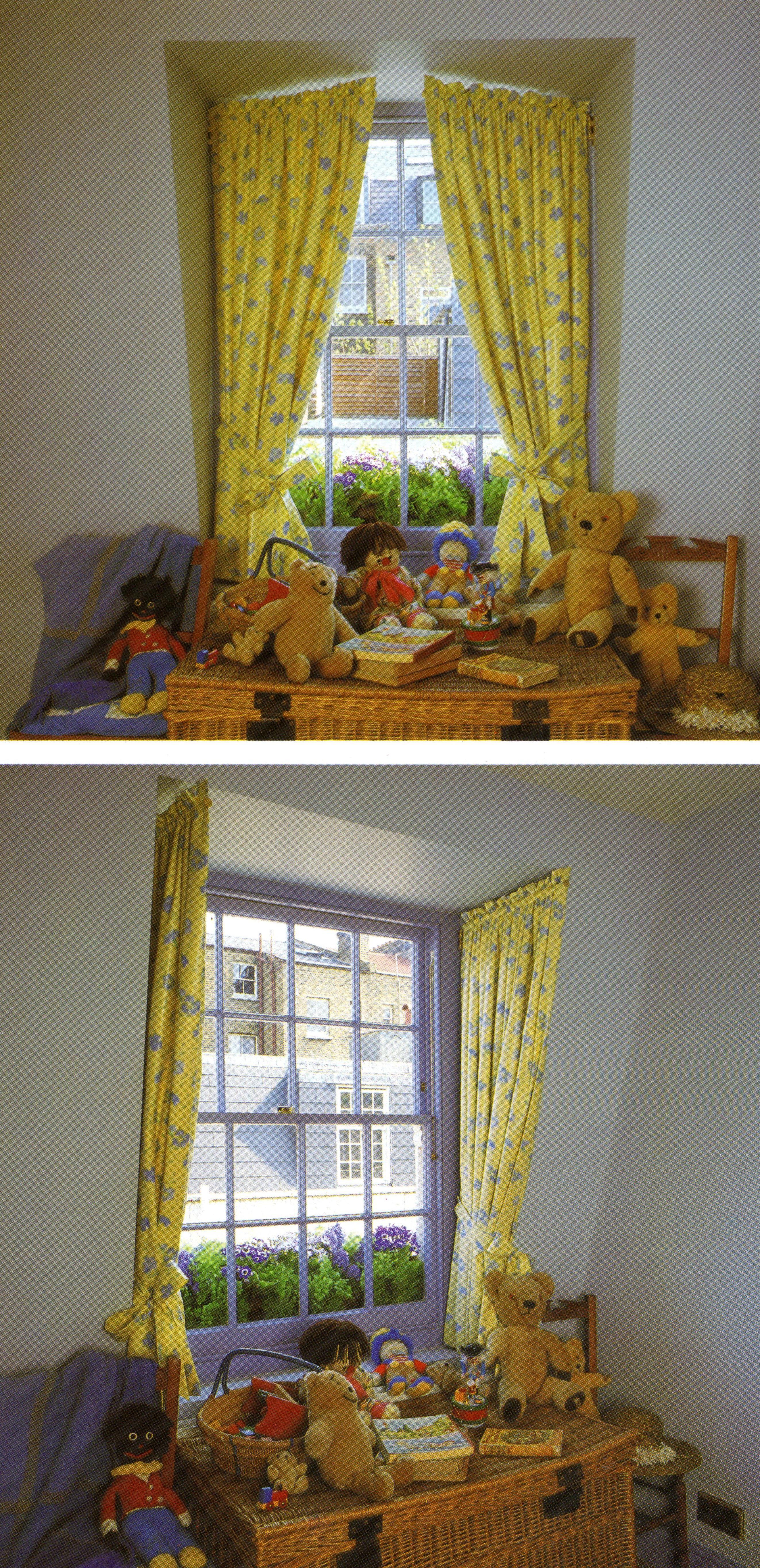 Cute curtains for the playroom window seat. | Favorite Places ...