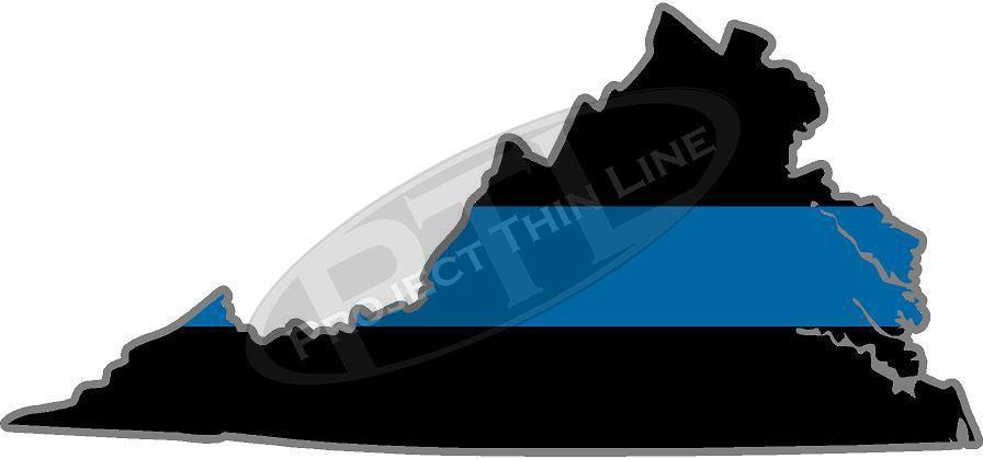 "5"" Virginia VA Thin Blue Line State Sticker Decal"