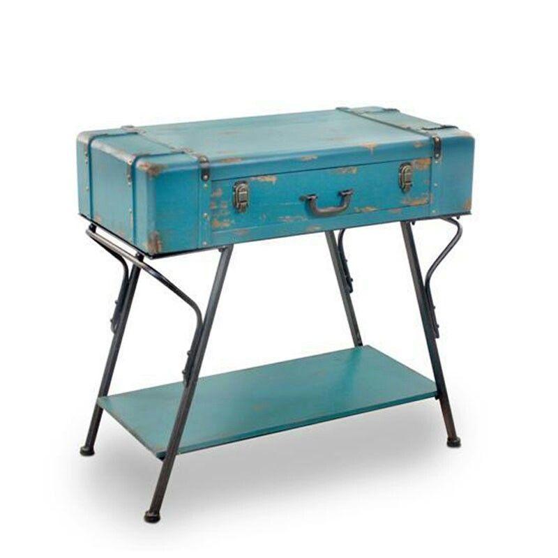 Recibidor-maleta muy original, la base podría ser una mesa de ...