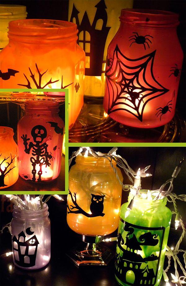 Halloween deko basteln windlichter basteln mit kindern - Halloween deko basteln mit kindern ...