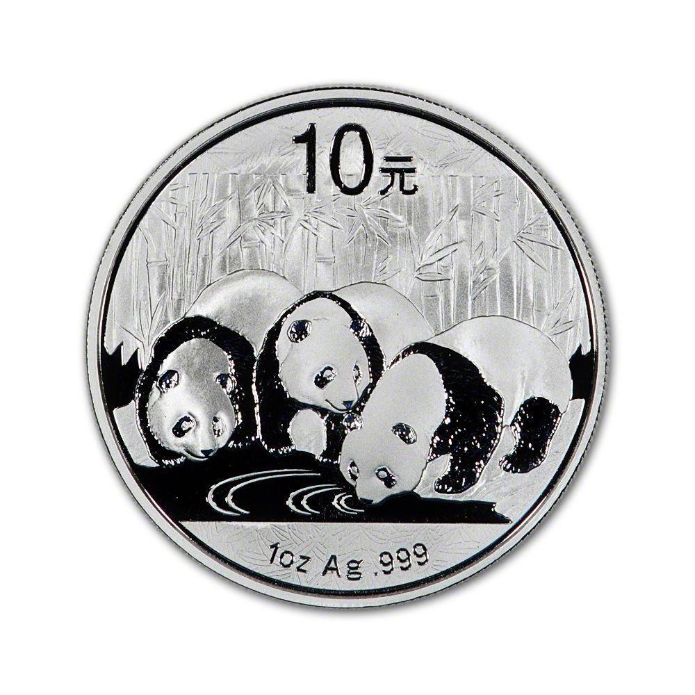 2013 China Silver Panda- 1oz. .999 Pure Silver Brilliant Uncirculated