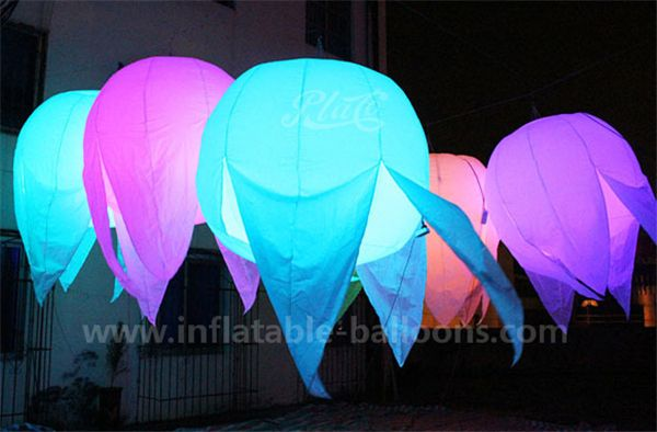 Inflatable jellyfish balloon / hanging decoration LED inflatable jellyfish