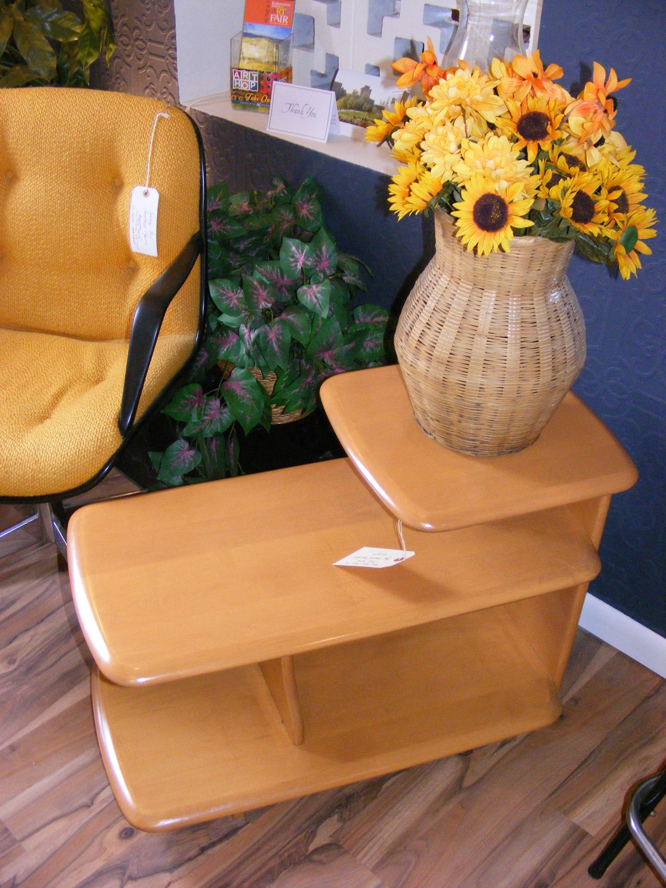 Very Rare 3 Tier Side Table By Heywood Wakefield At Retro Kalamazoo Vintage Furniture Mid Century Modern Home Accessories