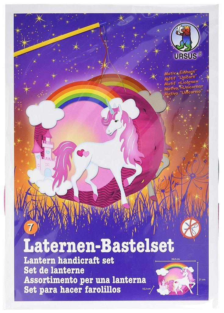 Laternen Bastelset Easy Line Einhorn. #diy #selbermachen #basteln #affiliate #d …