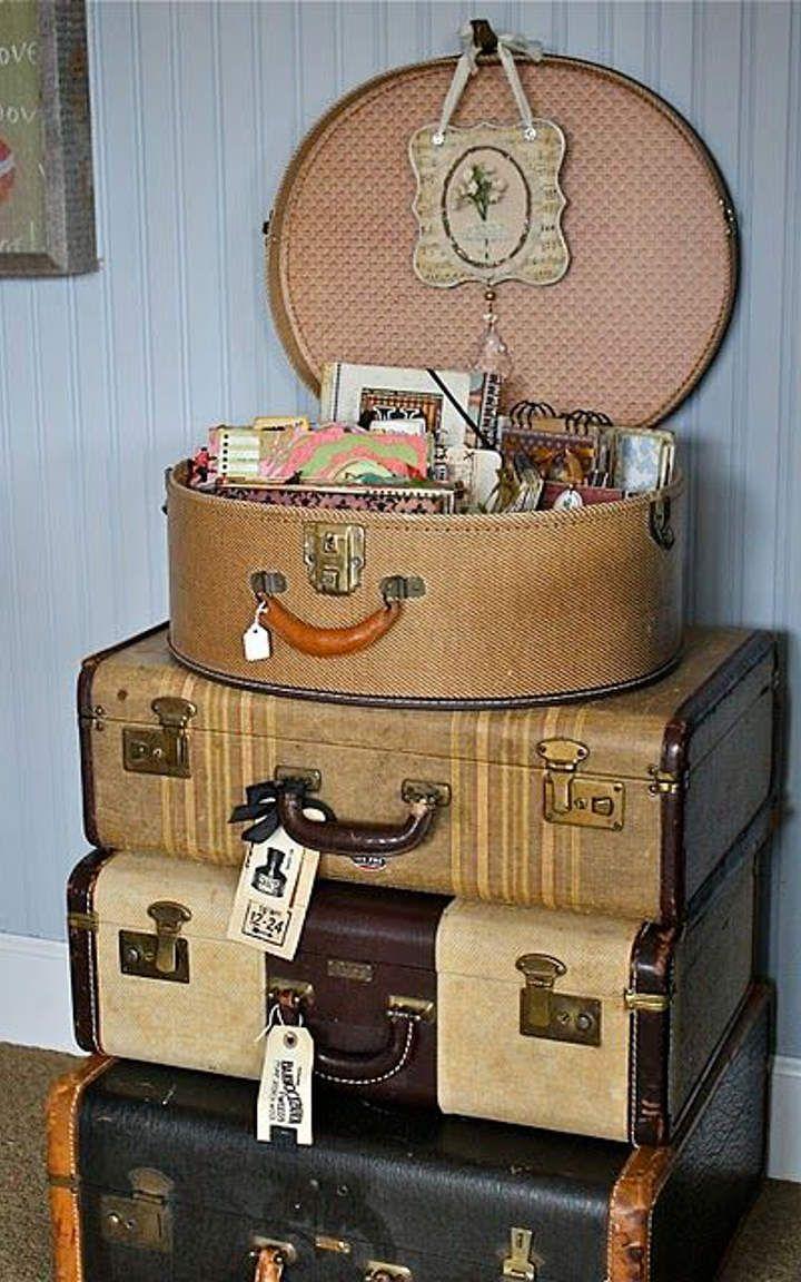Alter Koffer Deko vintage suitcase 10 upcycling vintage koffer