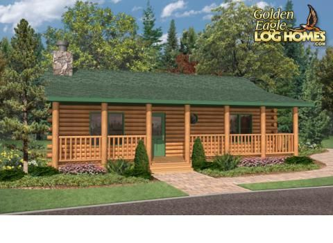 Golden Eagle Log Homes Bayview 864ar Floor Plan Ranch House Plans House Plans Timber House