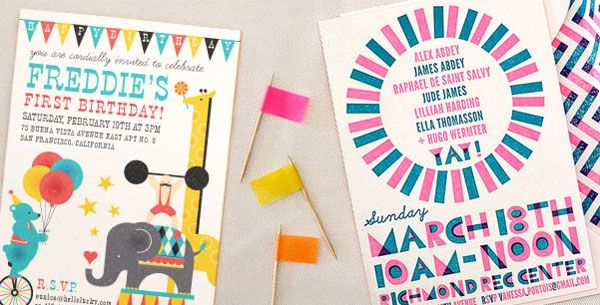 kids party invitations from hello lucky design invitations and