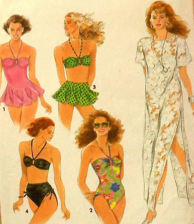 Skirted swimsuit bikini and cover up sewing pattern simplicity skirted swimsuit bikini and cover up sewing pattern simplicity 7837 sizes 6 12 swimming suit jeuxipadfo Gallery