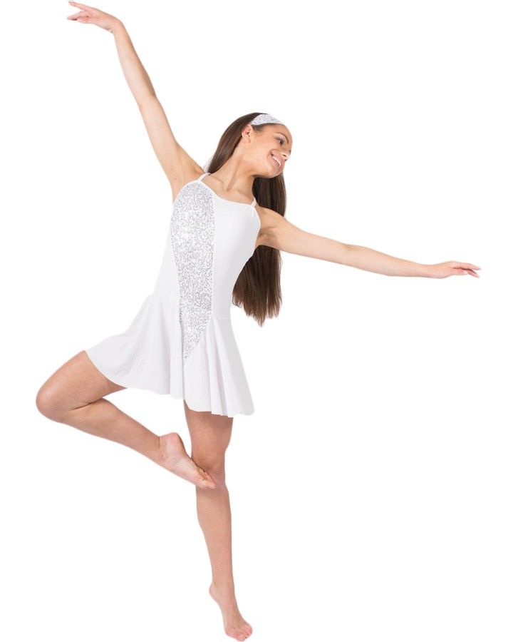 Lyric solo lyrical dance costumes : Sway With Me White Dance Costume (Good for dance or ice dance ...