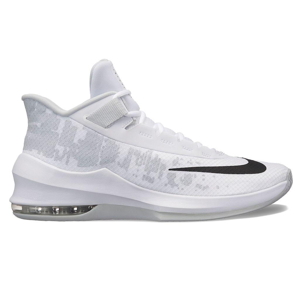 white blue basketball shoes nike air max 2