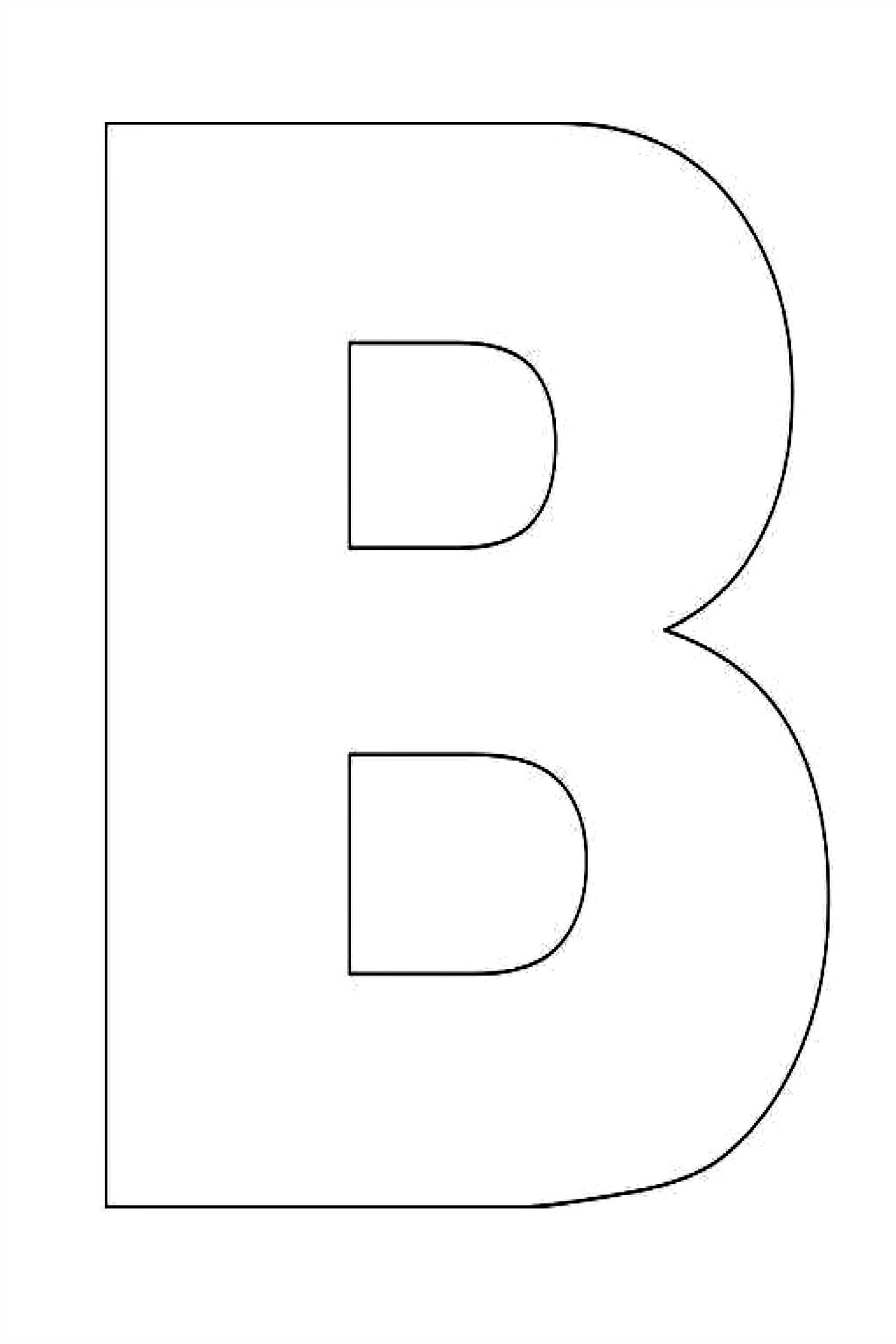 Alphabet E letters to print and cut out free - Alphabet Letter B Template For Kids Jpg 1600