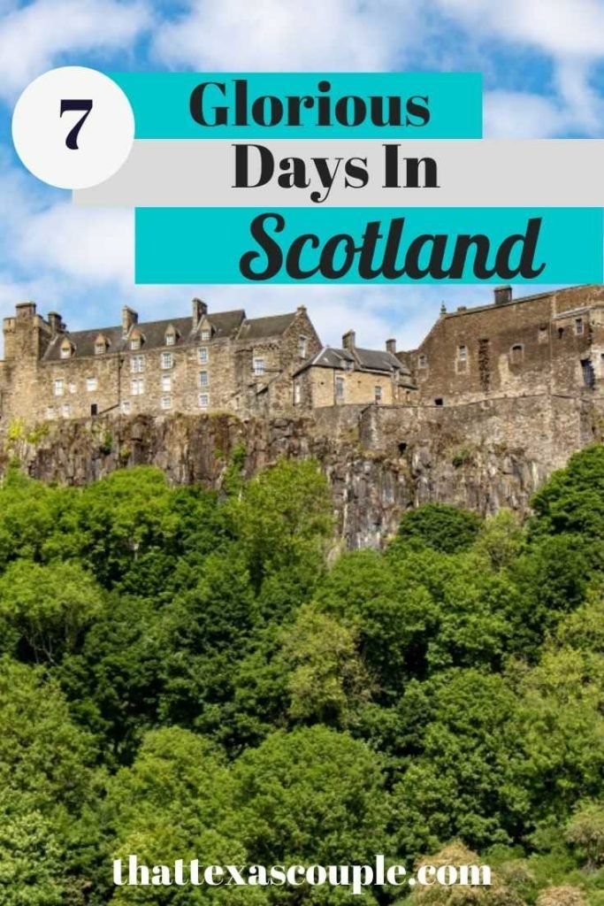 Are you planning a trip to Scotland? Then you have to check out this 7 day Scotland itinerary. From staying in a historic castle to visiting beautiful abbeys and ruins, this post is for you. #scotlanditinerary #visitscotland #couplestravel #scotland