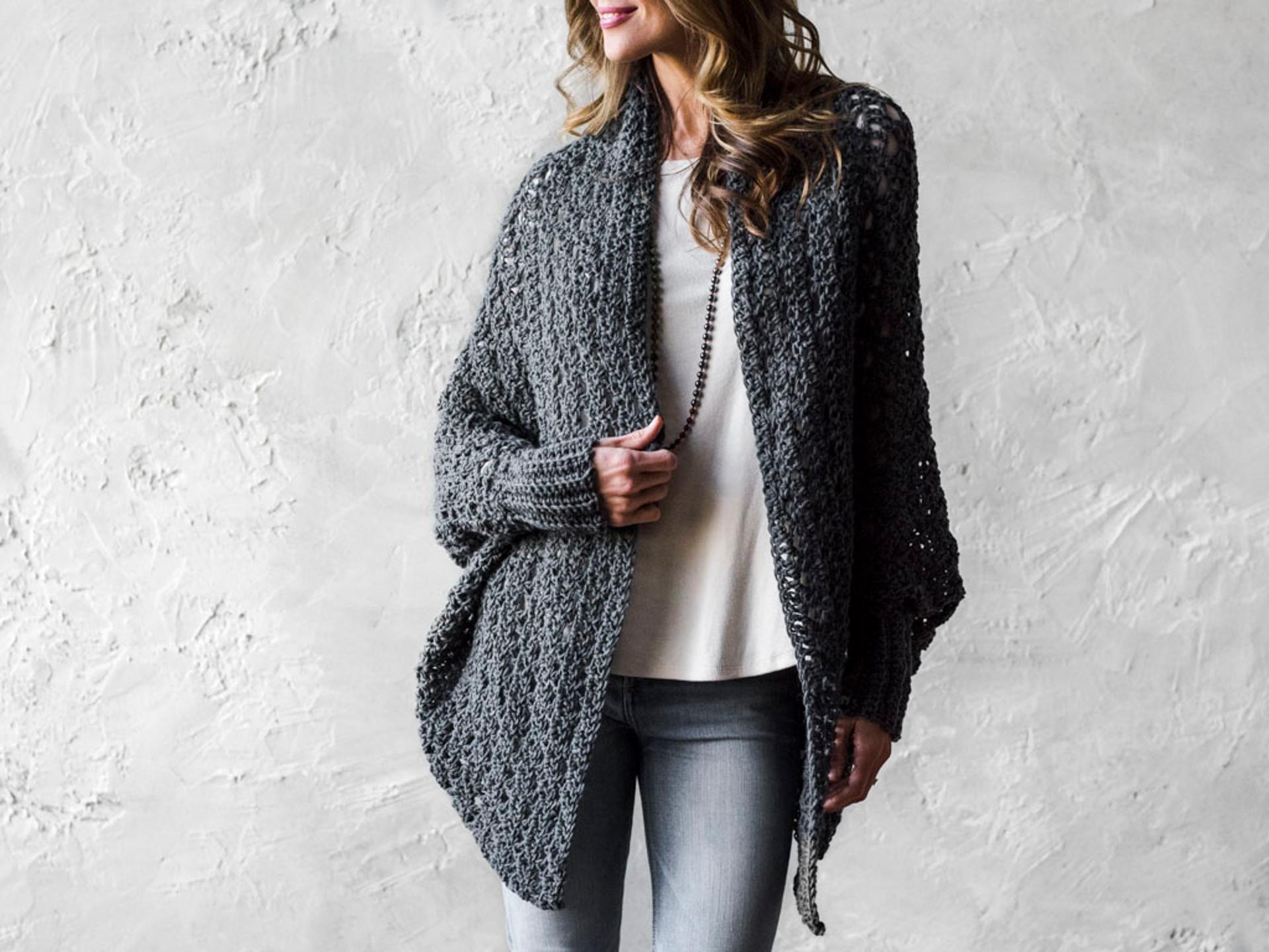 Carleton Cocoon Sweater Crochet Kit | Shawl, Crochet and Yarns