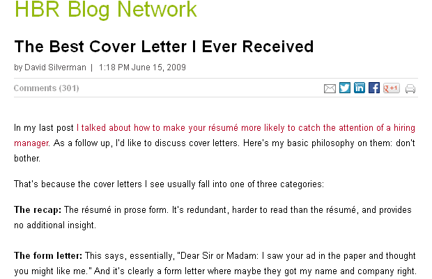 The Best Cover Letter I Ever Received Good Stuff Sample