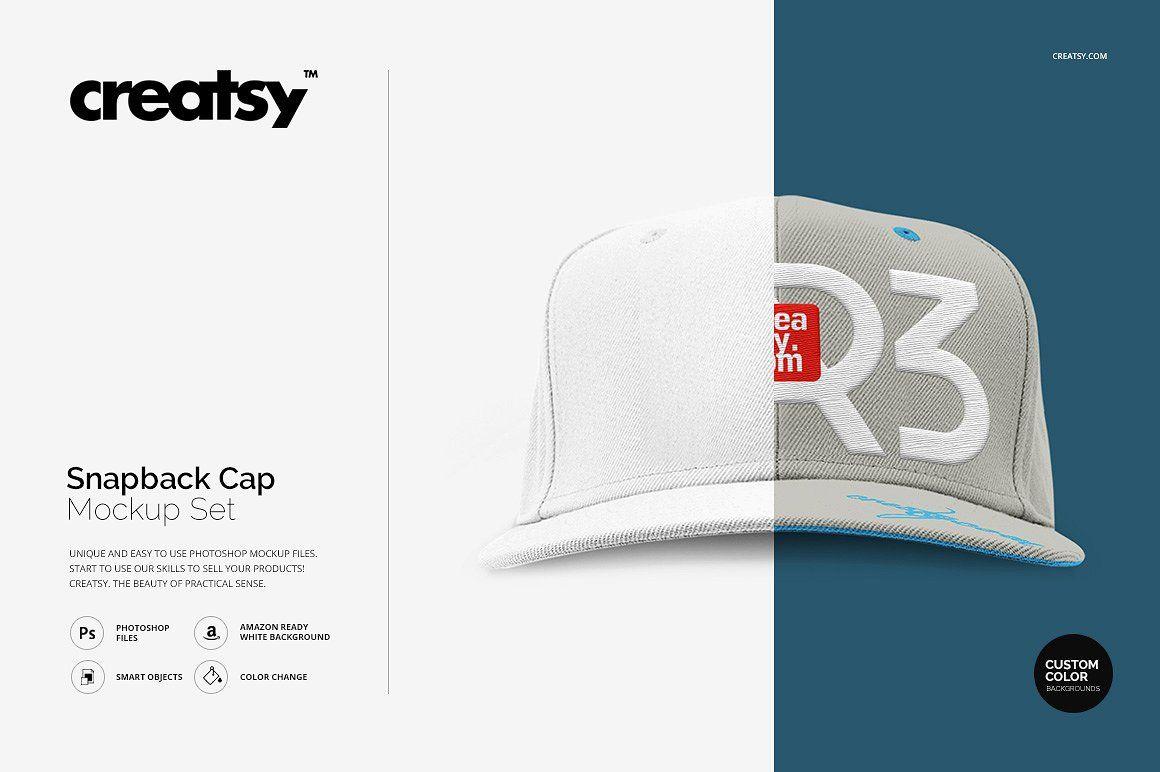 Download Snapback Cap Mockup Set Mockup Design Snapback Cap Graphic Design Studios