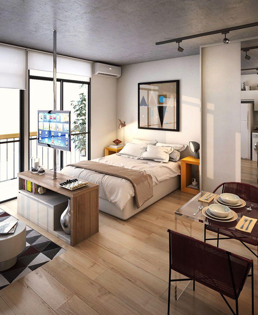 homedesigning: (via 5 Small Studio Apartments ...