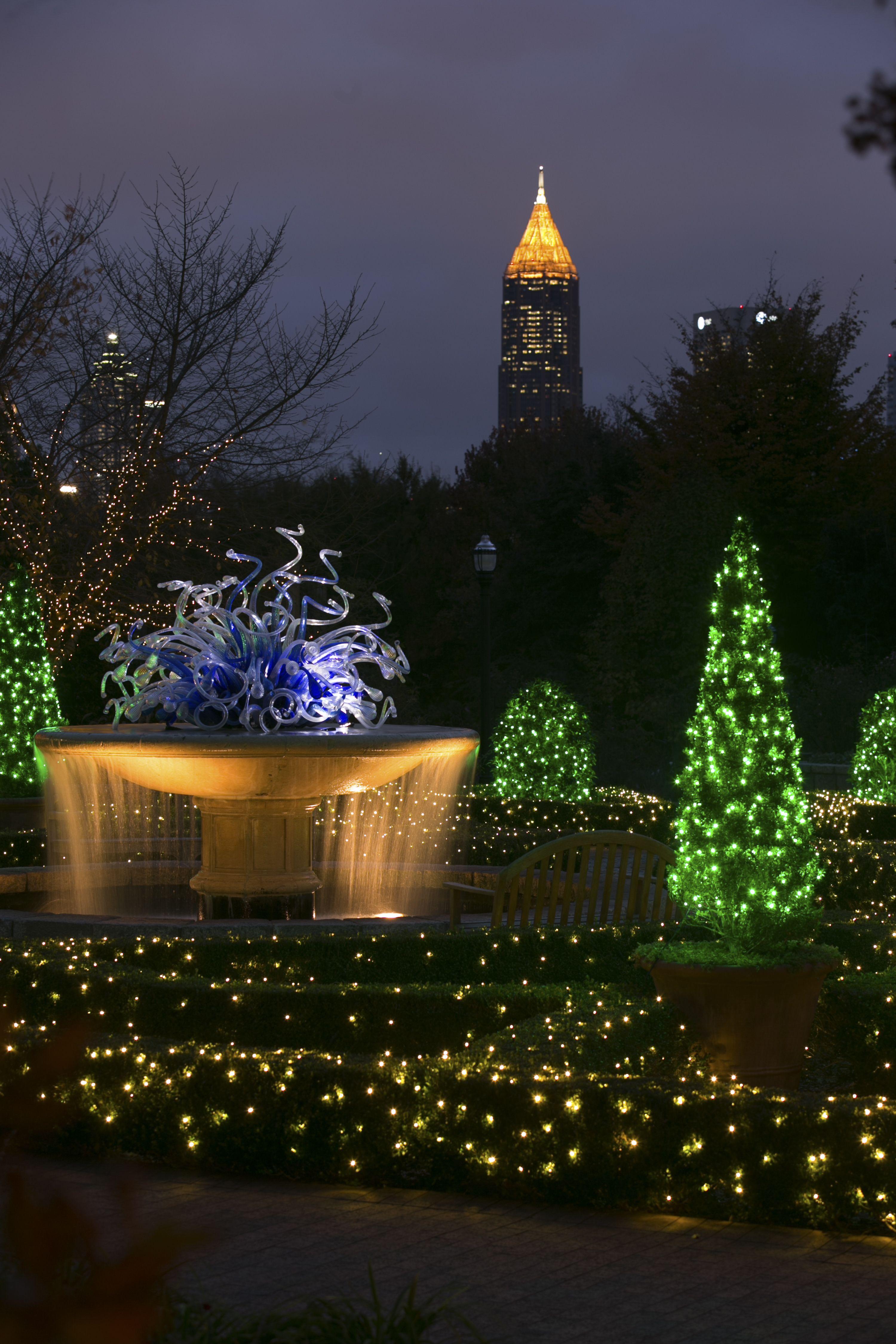 Garden Lights, Holiday Nights Garden lighting, Holiday