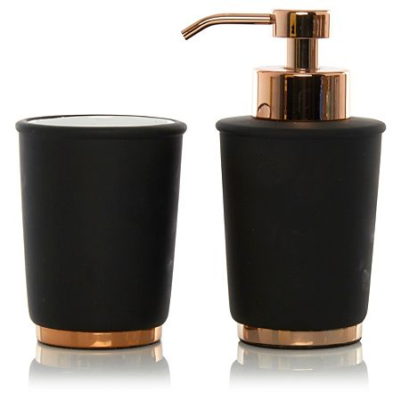 George home black copper bathroom accessories for the - Black marble bathroom accessories ...
