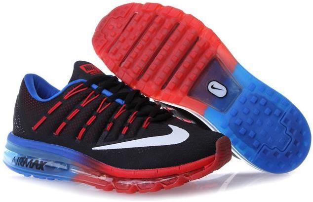 Nike Air Max 2016 Red Black Blue | Nike air max 2016, Nike