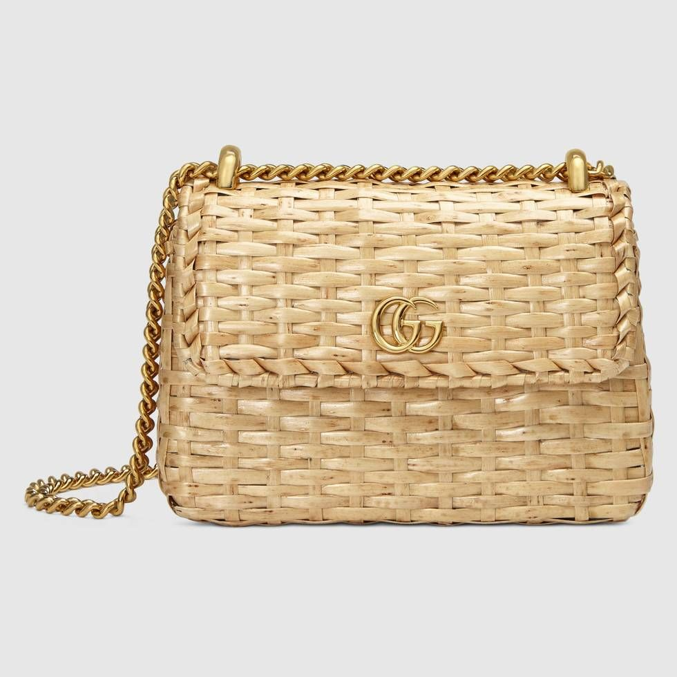 851e21512 Shop the Wicker mini shoulder bag by Gucci. Crafted from an all-natural  material, the wicker bag is reimagined through the Gucci lens and presented  in a ...
