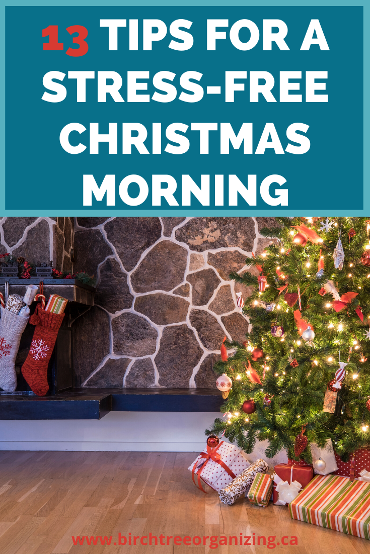 Making Christmas magical takes a lot of work and by the time Christmas morning arrives, you can feel spent.  Here are 13 things you can do to make the morning smooth so you can just relax and enjoy it.  #christmas #planningfortheholidays #christmasmorning #christmasiscoming #planahead #stressfreechristmas  #smoothchristmas