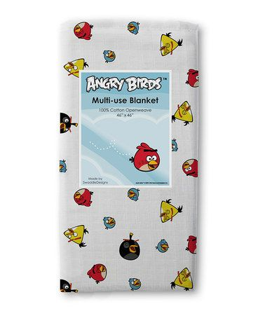 Take a look at this Red & Yellow Angry Birds Marquisette Swaddling Blanket by SwaddleDesigns on #zulily today!