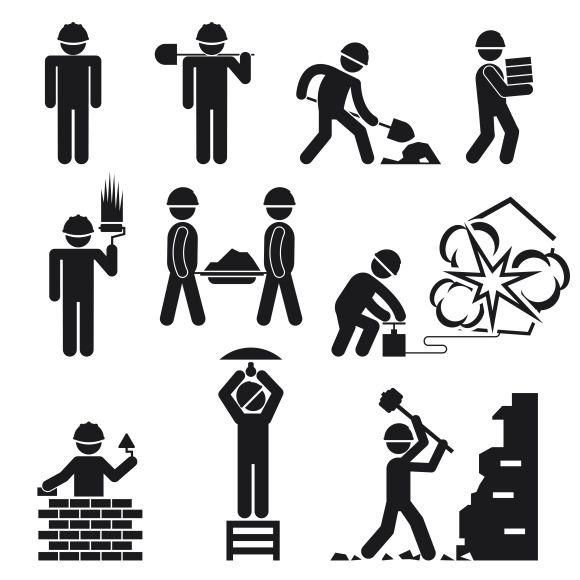 Construction Icons Pictogram Construction Logo Vector Icon Design