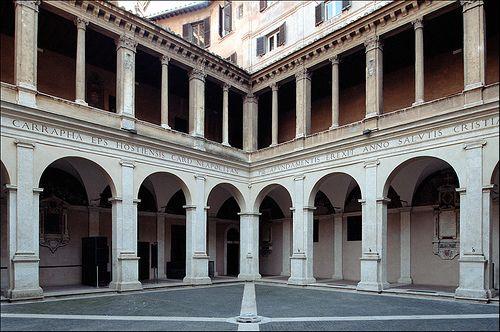 Chiostro Del Bramante Roma Italy Renaissance Architecture Rome