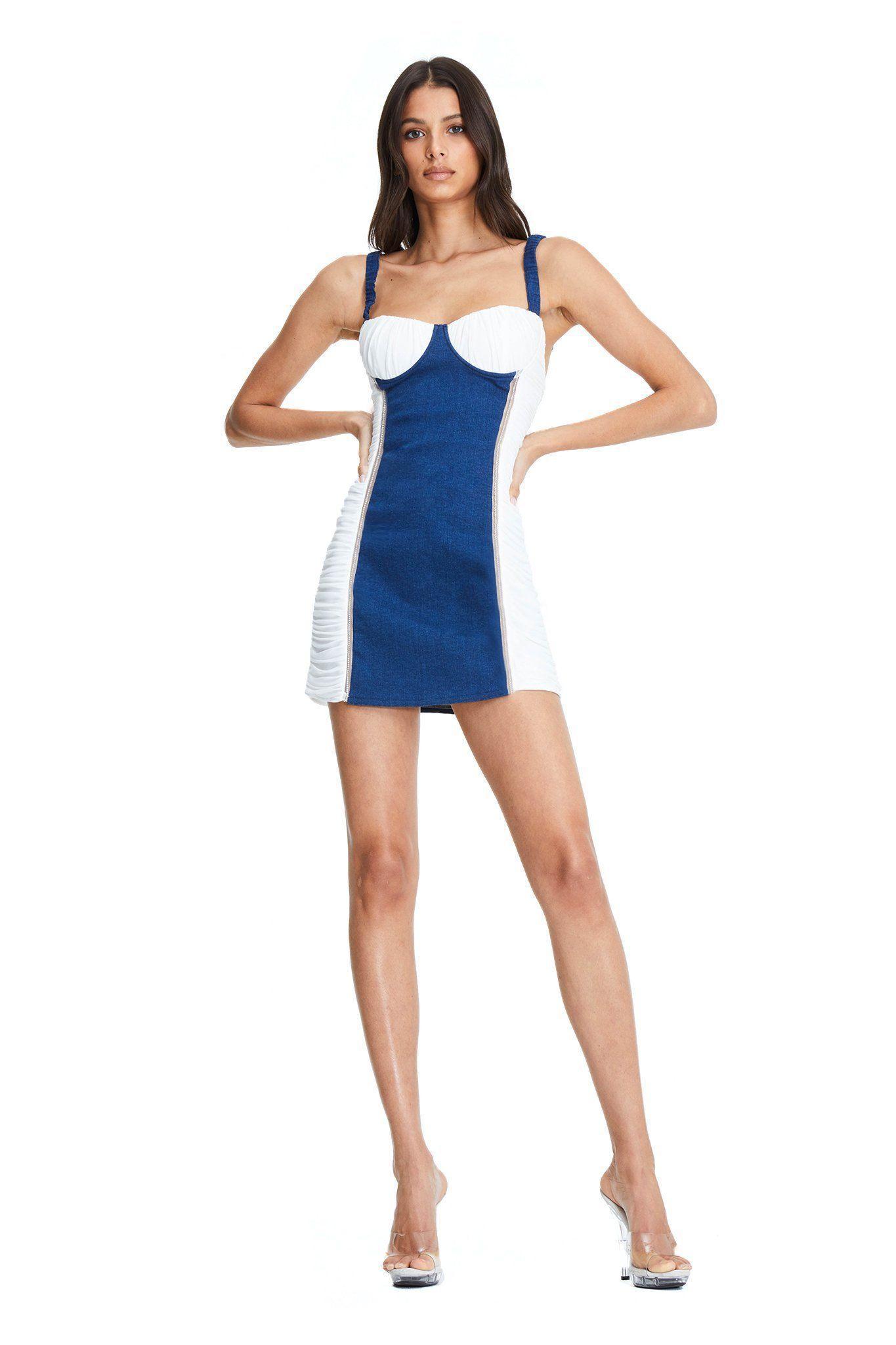 NEVADA DRESS I.AM.GIA Denim details, Dresses, White