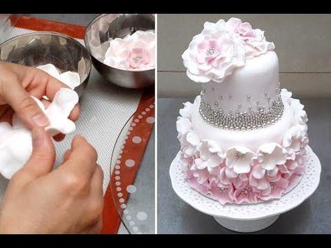 Quilted Cake - gestepptes Muster - Fondanttorte mit quilted / gestepptem Muster - von Kuchenfee - YouTube