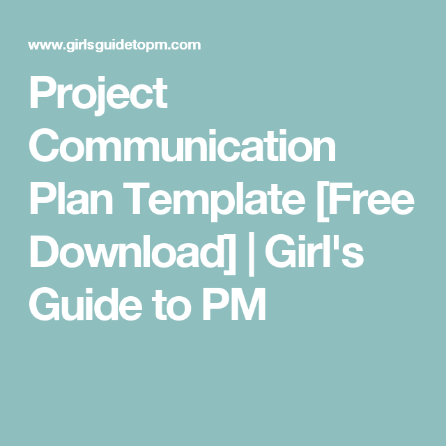 Project Communication Plan Template Free Download  Template And